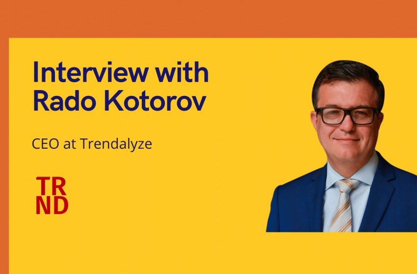 aiTech Trend Interview with Rado Kotorov, CEO at Trendalyze